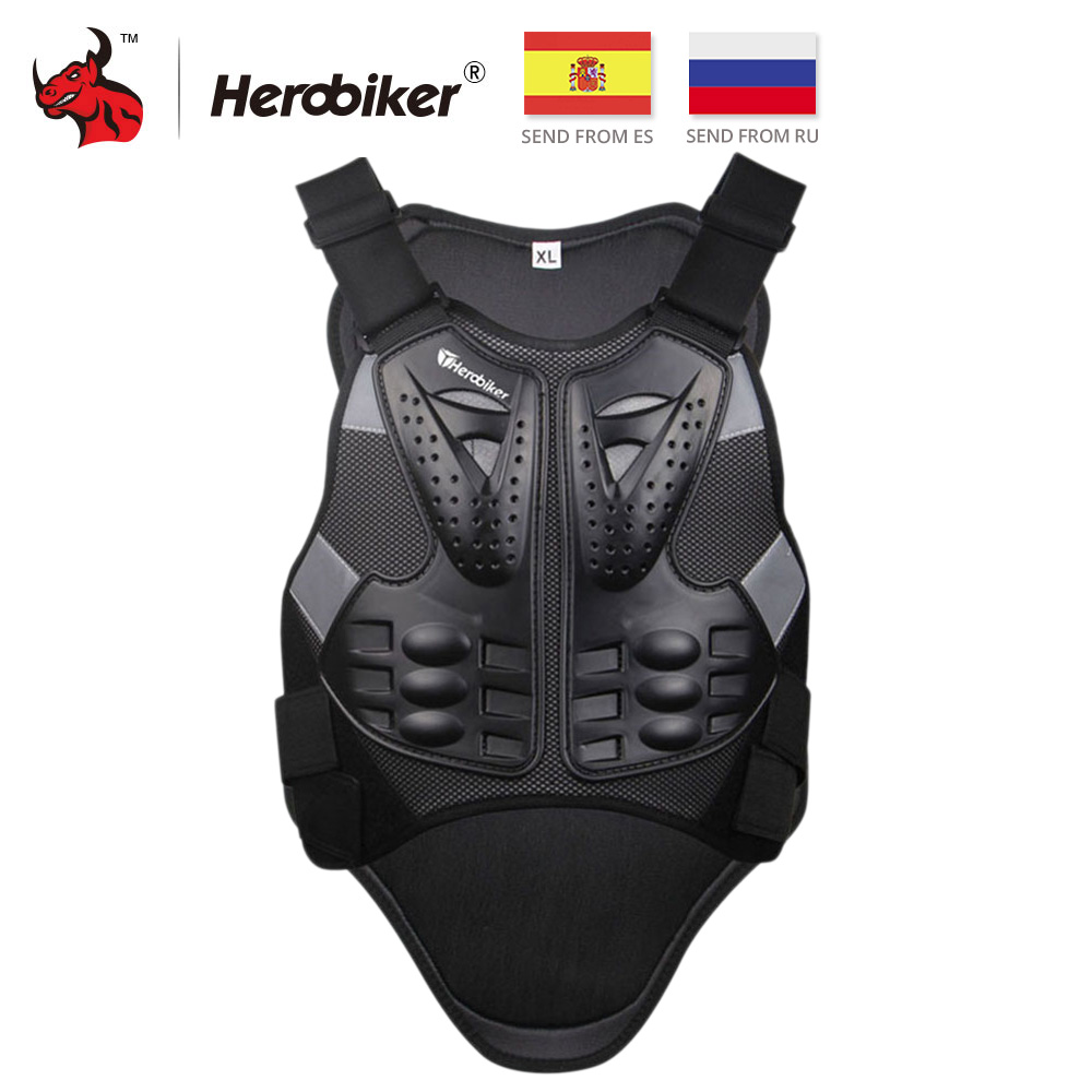 HEROBIKER Motocross Racing Armour Motorcykel Riding Body Protection Jacka Med Reflekterande Strip Moto Armour Protective Gear
