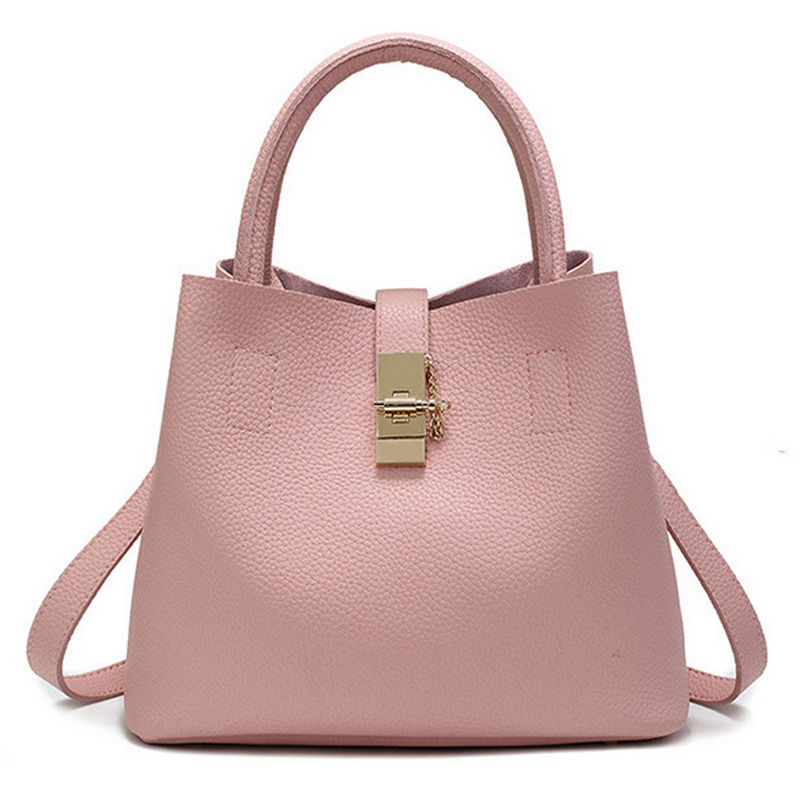 Hot Sale  Ladies Bag Fashion PU Leather Women's Handbags Top-Handle Bags women Tote Women Shoulder Messenger Bag hot sale 2016 france popular top handle bags women shoulder bags famous brand new stone handbags champagne silver hobo bag b075