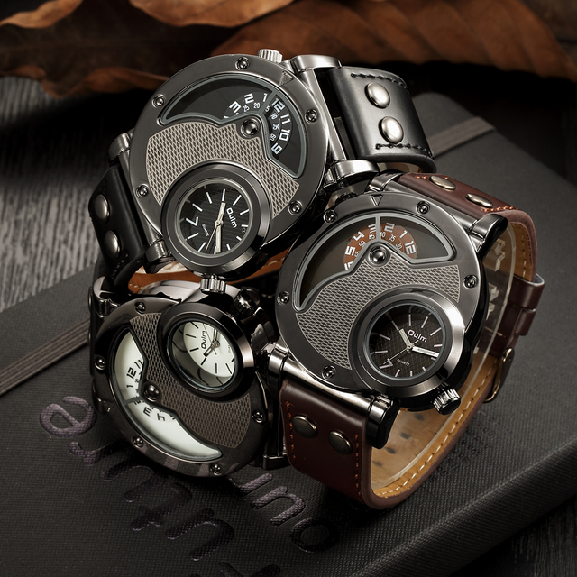 Steampunk Unique Looking Watch w/ Leather Strap 2