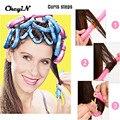 24pcs Soft Foam Hair Roller hair Curler Self-adhesive Bendy Curling Hair Style Tool Sticks Cling HS162