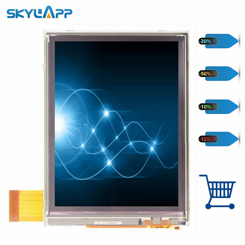 Skylarpu 3.5 inch for NL2432HC22-41B LCD screen for DATALOGIC Falcon X3 handheld barcode terminal Touch screen Free shipping nl2432hc22 25b nl2432hc22 25e lcd screen display with touch screen digitizer for tomtom gps