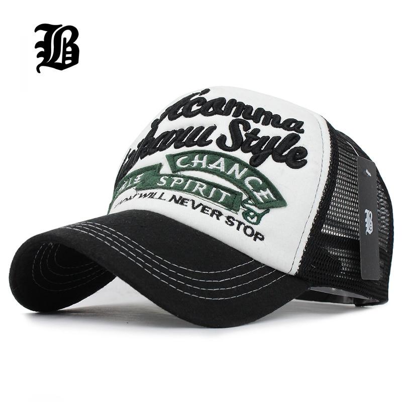 [FLB] 5 Panels Embroidery Summer Baseball Cap Mesh Cap Gorras Hombre Hats Hip Hop Caps Dad Casquette Hats For Men Women