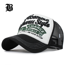 [FLB] 5 panels embroidery summer baseball cap mesh