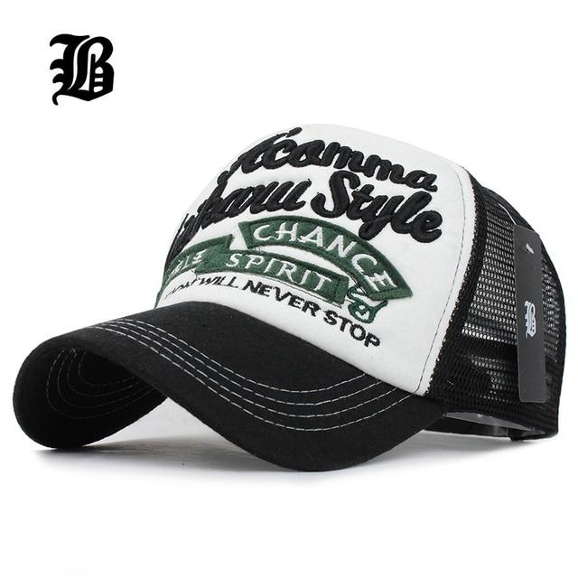 9295f4857b423  FLB  5 paneles bordado verano gorra de béisbol de malla gorra de Gorras  Hombre