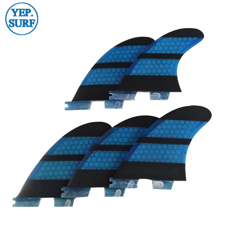 Surf Fins FCS2 G3 G5 K2 1 FINS Tri fins Tri quad fins set Quilhas Blue