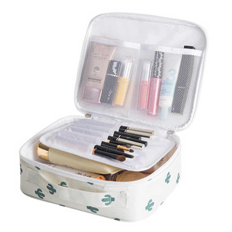 Mulheres bolsa de Maquiagem à prova d' água Caso saco de Cosmética saco de Viagem Make Up de Higiene Pessoal bolsa De Armazenamento Organizador box set profissional HZB-015