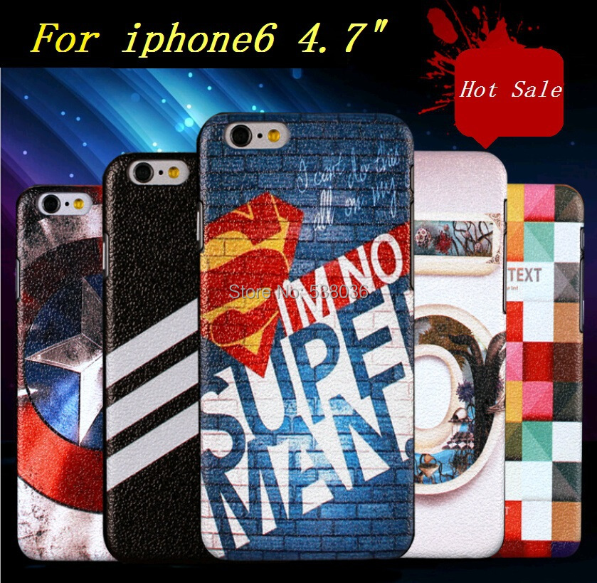 Fashion new Item iphone 6 4.7 mobile phone protective Case cover flip leather colorful painted beauty case - Android accessories store