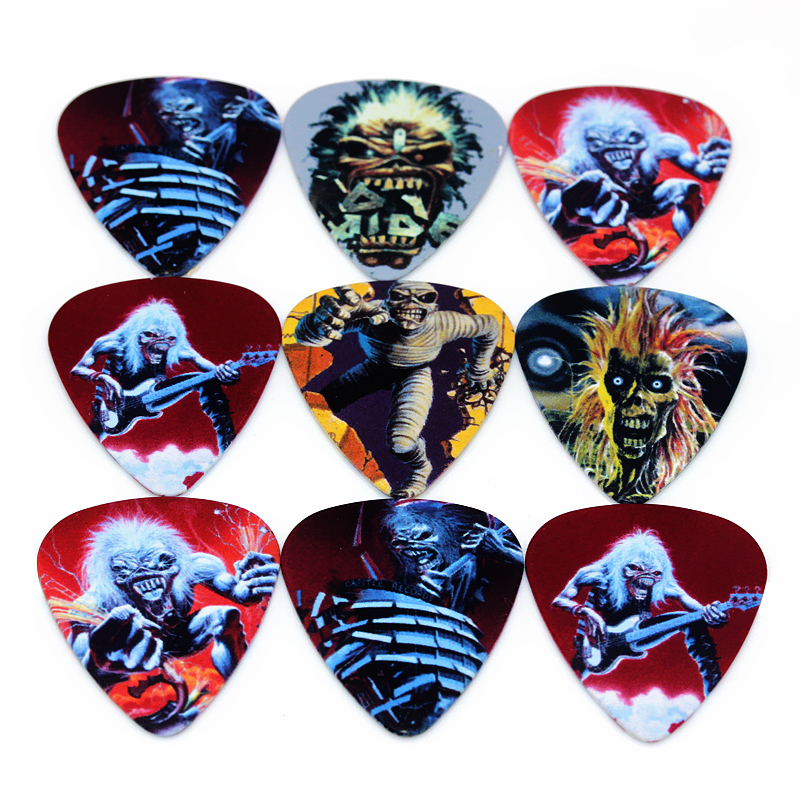 10pcs Newest The iron lady Guitar Picks Thickness 0.71mm Iron Maiden 2S1-16