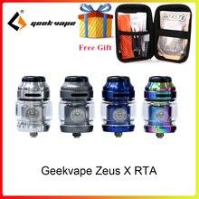Original Electronic cigarette atomizer Geekvape Zeus X RTA 4.5ml tank with 810 Delrin drip tip tank rta vs zeus rta zeus dual