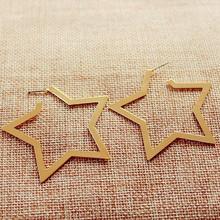 2017 Rock Punk Geometric Star Stud Earrings For Women Harajuku Aros Earrings Piercing Ear Cuff Female Fashion Jewelry