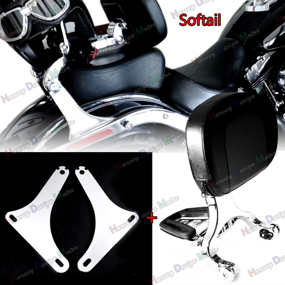Low Mount Kit &Driver Passenger Backrest For Harley Softail FLSTC 2000-2017 Model