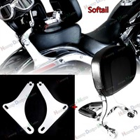 Low Mount Kit &Driver Passenger Backrest For Harley Softail FLSTC 2000 2017 Model