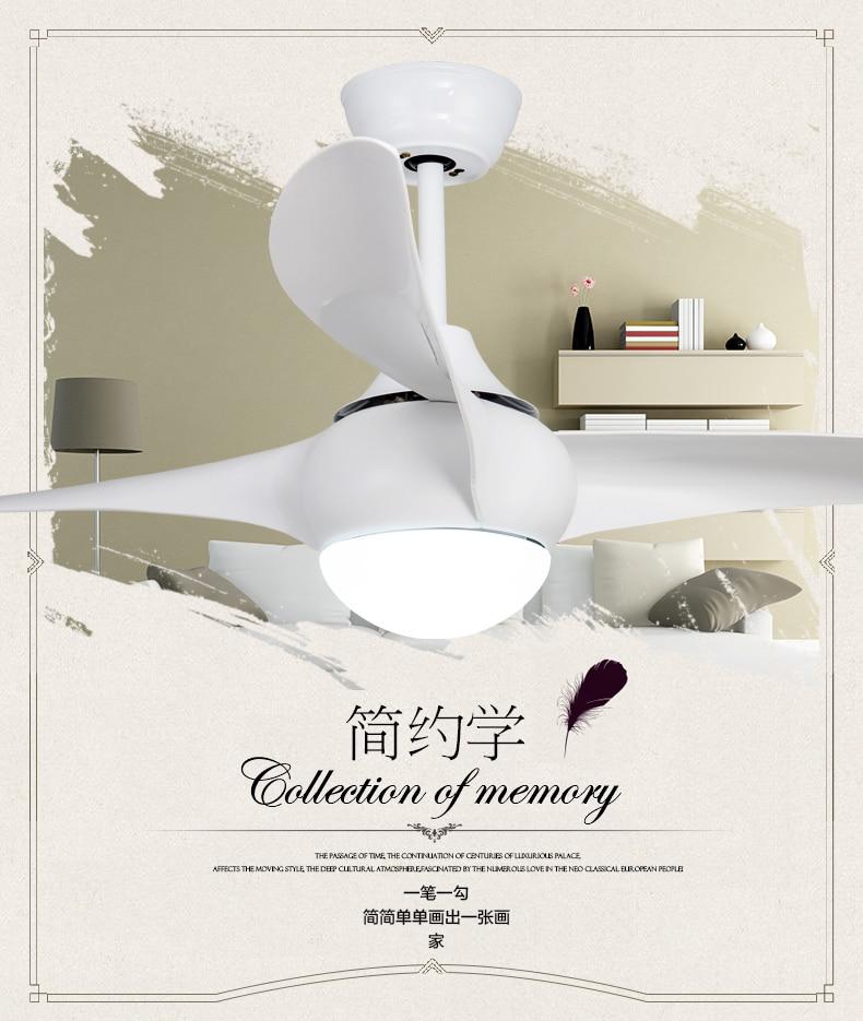 Aliexpress Amerikanischen 52 Inch Fan Mit LED Lampen Esszimmer Wohnzimmer Ventilator Lampe Deckenventilator Licht Minimalismus Moderne Fernbedienung