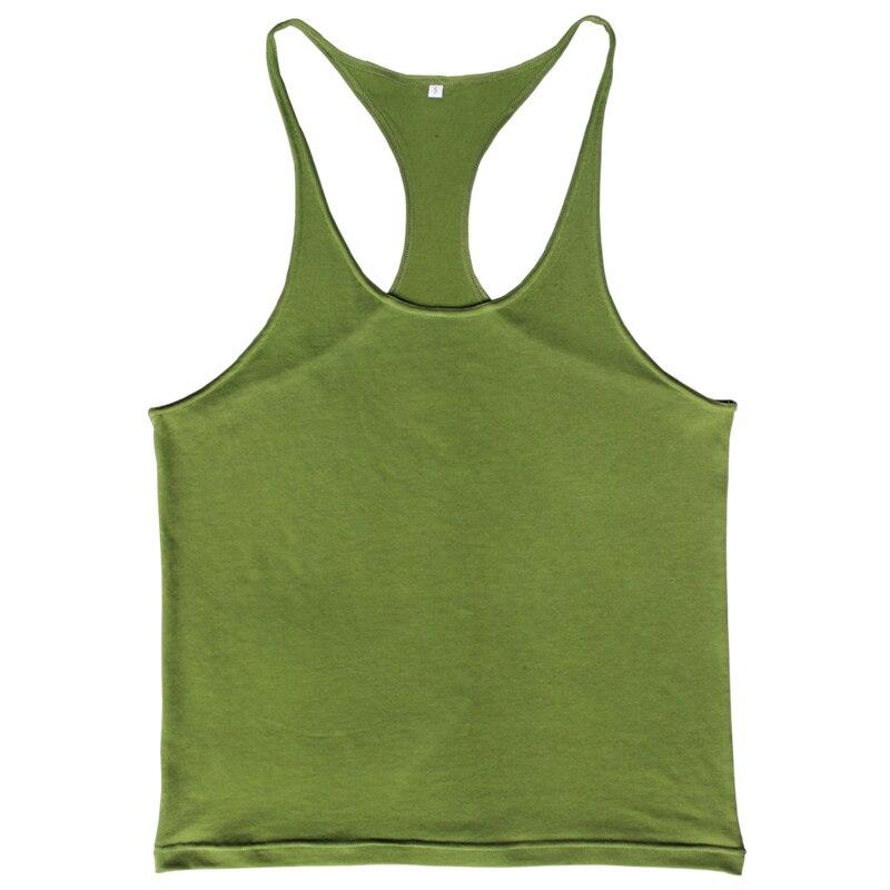 Kebugaran Pria Tank Top Singlet Stringer Binaraga Pakaian Tanpa - Pakaian Pria - Foto 3