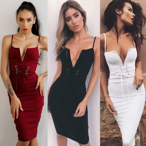 Aliexpress.com   Buy Women V Neck Sling Dress Solid Flat Backless Slim  Dress Skinny Party Bodycon Sleeveless Denim Mini Dress from Reliable sling  dress ... 861b6f55b60b