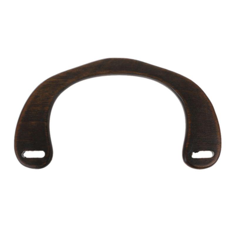 New 1 Pc U Shape Wood Bag Handle For DIY Craft Replacement Handbag Shoulder Bag Making Tool Bag Accessories