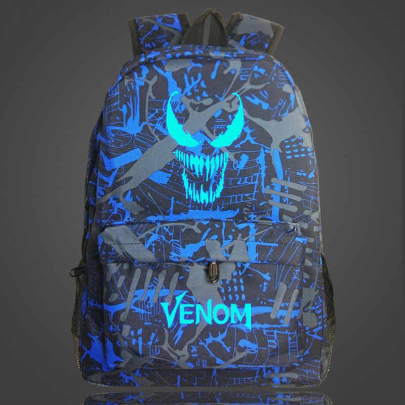 Lichtgevende Galaxy Venom Jongen Meisje Kinderen Student schooltas Vrouwen Bagpack Tieners Schooltassen Mannen Rugzakken