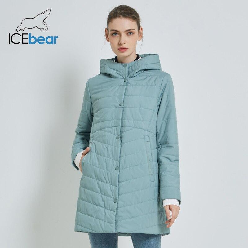 ICEbear 2019 جديد سترة نسائية الخريف عارضة امرأة مقنعين سترة جودة عالية الإناث معطف GWC19055I-في سترات فرائية مقلنسة من ملابس نسائية على  مجموعة 2