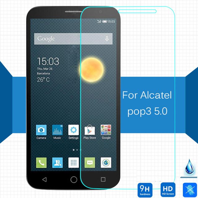 Alcatel One Touch Pop 3 5.0 Tempered Glass Original 9H Protective Film Explosion-proof Screen Protector for 5015D 5065D 5015X(China)