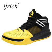 2018 Unisex Basketball Shoes Lace Up Couples Sport Shoes Men Basketball Men And Women Leather Red