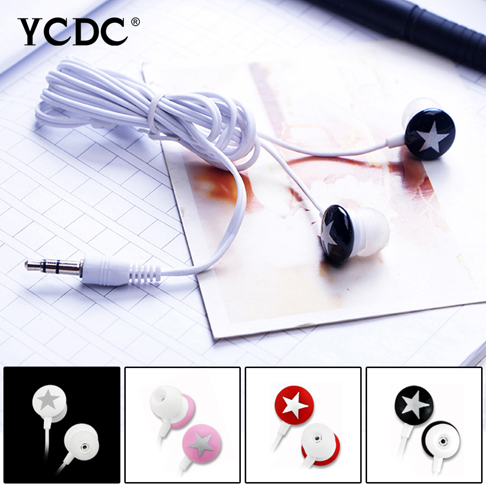 +Cheap+ YCDC Rainbow Color Cute Star 3.5mm In-ear Headset Earphone Earbud For iPhone Xiaomi HTC Samsung MP3 MP4 PC