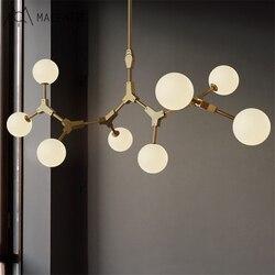 Północna europejska żyrandol do salonu światła amerykański sztuki restauracja żyrandol sypialnia żelaza drzewa wiszące oprawy oświetleniowe|Żyrandole|Lampy i oświetlenie -