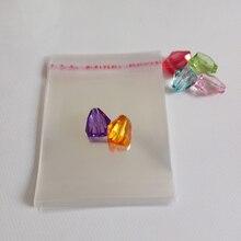 100 шт. Ясно opp самоклеющиеся Печать прозрачные сумки для ткань/подарок/ювелирные сумки пластиковые пакеты Дисплей мешок