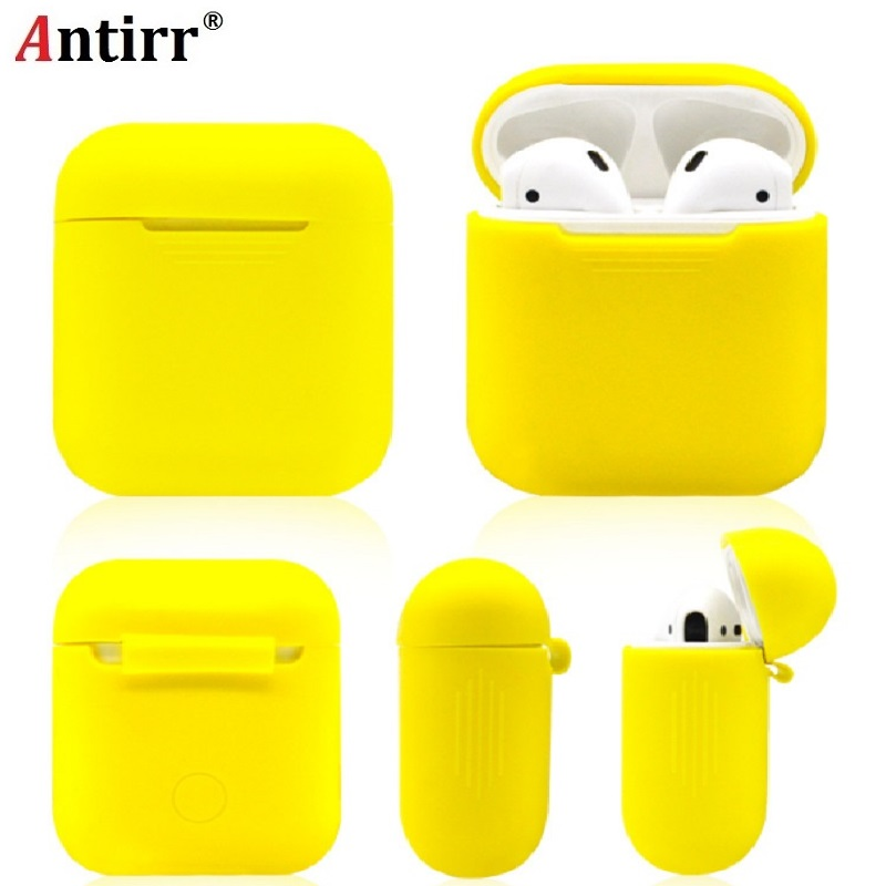 Silicone Shock Proof Protector Sleeve For Apple AirPods Case Skin Cover for AirPods True Wireless Earphone box accessories цена
