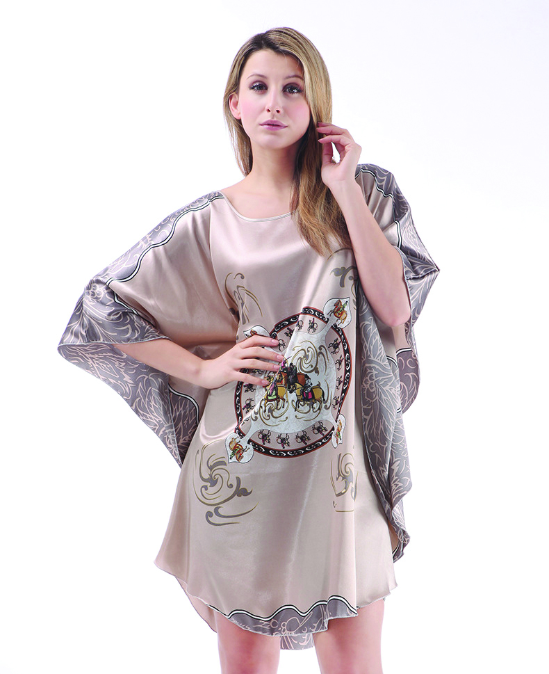 Women New Arrival Robe Chinese Style Kimono Hand-Made Painted Kaftan Robe Gown Bathrobe Sleepwear Robes