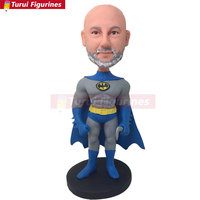 Batman Personalized Gift Batman Bobble Head Clay Figurine Birthday Cake Topper Gift Husband Gift Boyfriend custom bobblehead