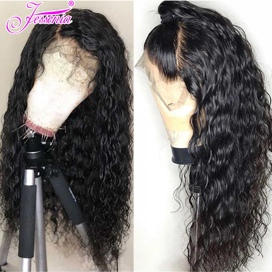 150 Density Water Wave Wigs 13*4 Lace Frontal Wigs Pre Plucked With Baby Hair Remy Brazilian Short Lace Front Human Hair Wig