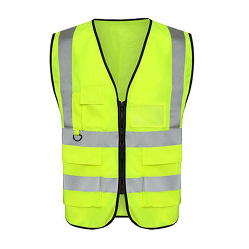 Cycling Running Stereo Multi-pocket Reflective Vest Fluorescent Yellow Reflective Vest Soft And Durable Accepting Wholesale