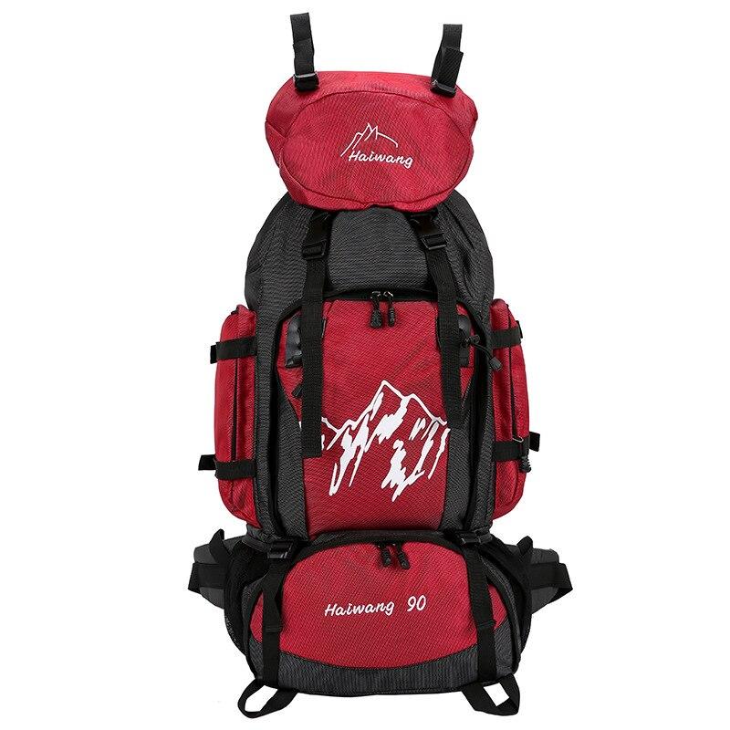 00644f260b19 [5] 90L открытый альпинизм сумка мужская женская походная сумка  непромокаемая спортивная сумка дорожные Рюкзаки большой емкости рюкзак 32  купить на ...