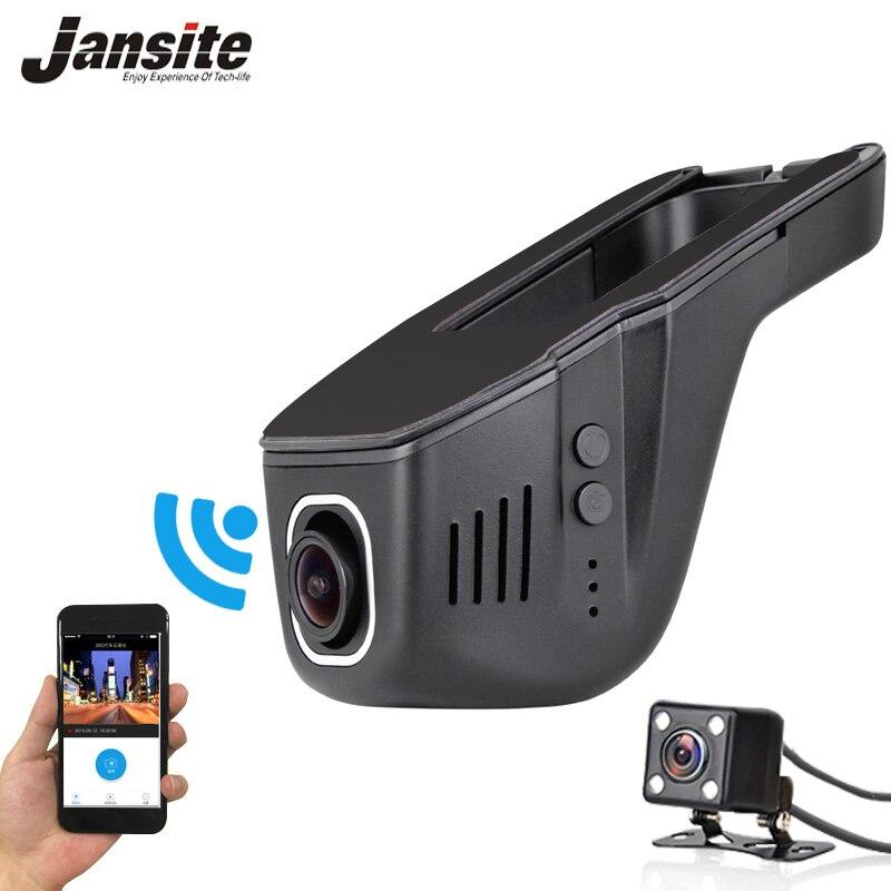 imágenes para 2017 El Coche Más Nuevo Dvr Mini Cámara Del Coche Wifi Full HD 1080 P Dash Cam Video Recorder Registrator Videocámara Dual de la Lente Dvr Control de App