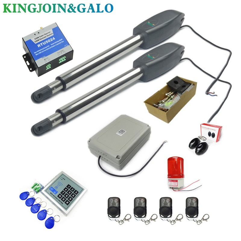 Image 4 - DC24V AC220V Linear Actuator Worm Gear Automatic Swing Gate Opener (photocells, lamp,button,gsm,keypad optional)-in Access Control Kits from Security & Protection