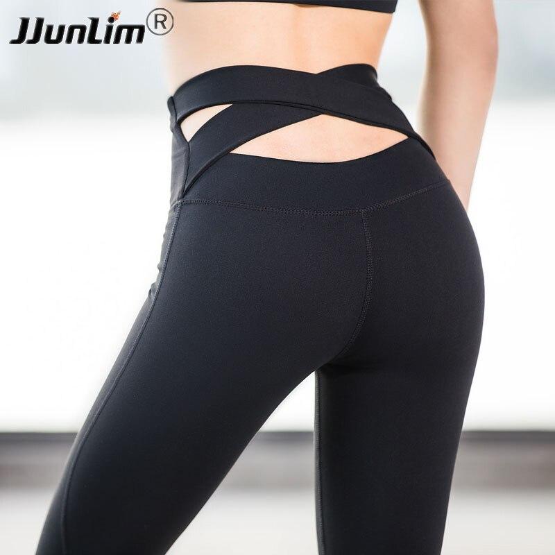 Sexy Yoga Pantalon Femmes Taille Haute Sport De Yoga Workout Pants Fitness Sport Leggings pour Femmes De Yoga Pantalon De Course Collants