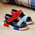 L & D Высокое Качество PU Кожаные Детские Сандалии Смешанный Цвет для Детей сандалии Для Девочек, Пляжная Обувь Подходит 1 ~ 15 Лет детские Сандалии мальчики