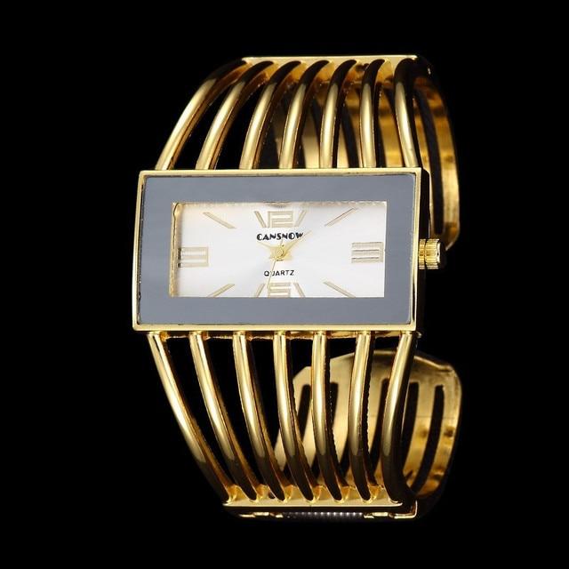 New Women Brand Luxury Fashion Rose Gold Bangle Bracelet Watch Women Dress Clock