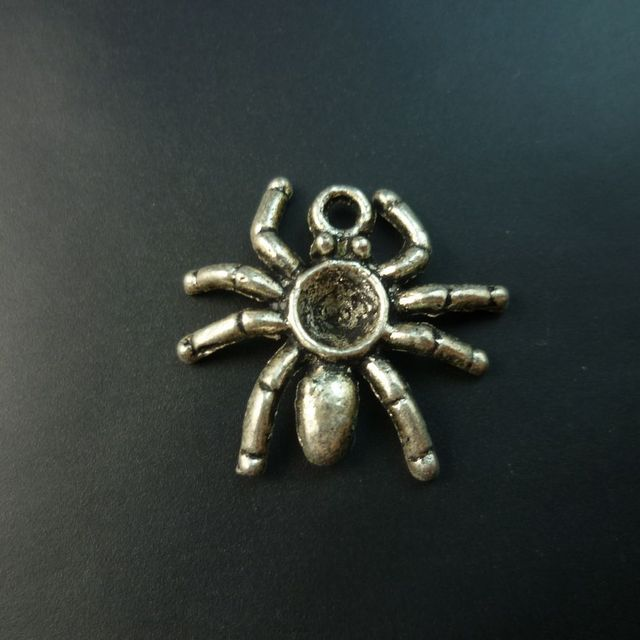 200 pcs/lot Spider tibet silver floating charms pendants Free shipping