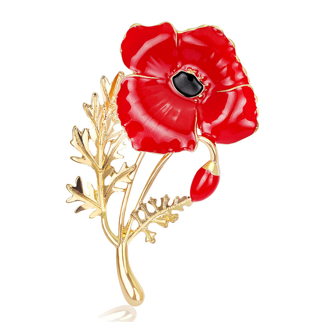 Oneckoha expoyed red poppy flower brooches collection zinc alloy uk oneckoha expoyed red poppy flower brooches collection zinc alloy uk princess souvenir pin mothers day gift mightylinksfo