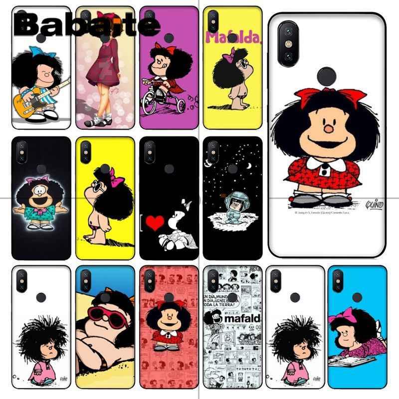 Babaite Mafalda DIY الطباعة الرسم غطاء إطار هاتف محمول شل ل redmi 5 زائد 5A 6pro 4X note5A note4x note6pro note7 حالات المحمول