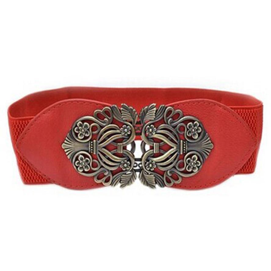 POP SKU Clearance Sale Female Fashion vintage cutout cummerbund pin buckle elastic belts women's wide belt decoration belt women #ET
