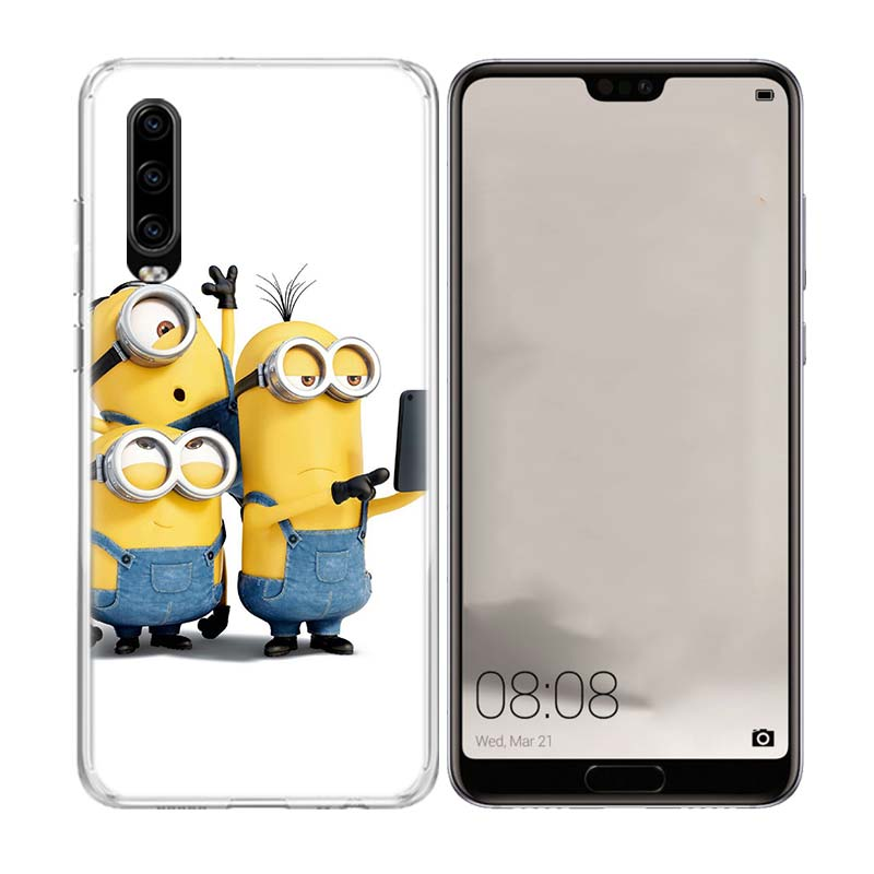 Minions Cute Cool Popular Phone Case for Huawei P30 P20 Mate 20 10 Pro P10 Lite P Smart Plus Z 2019 Customized Cover Cases in Half wrapped Cases from Cellphones Telecommunications