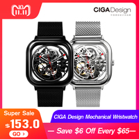 Xiaomi CIGA Design Hollowed out Mechanical Wristwatches Watch Reddot Winner Stainless Fashion Luxury Automatic Watches Men Women
