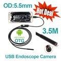 6 шт. LED Smart Android Телефон OTG USB Эндоскопа 3.5 М Змея Трубки Водонепроницаемый USB Эндоскоп Камеры 5.5 мм Объектив цифровой USB Бороскоп