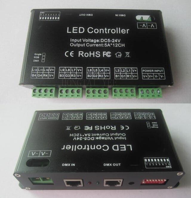 12Channel EASY RGB DMX LED controller DMX decoderdriver LED strip