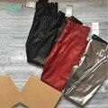 TAOVK 2017 новая мода Русский стиль Весной и Осенью Дамы Пакет хип кожаные штаны высокой талией брюки карандаш для женщин