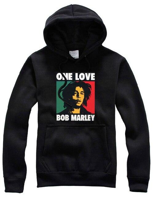 Nouveau Jamaïcain de Reggae Imprimer hommes vêtements casual bob marley  sweat,shirt à manches longues