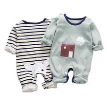 Носки для новорожденных хлопковые комбинезоны детская одежда из хлопка, с длинными рукавами, детский комбинезон Костюмы для маленьких мальчиков, спортивный костюм для девочек