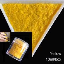 10 г/бутылка 3D Конфеты Маникюр бархат порошок Желтый украшения ногтей пушистый Флокирование нейлоновый порошок для ногтей Блеск художественные советы 2416